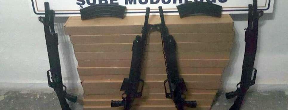 Afyon'da kaçak av tüfeği yakandı