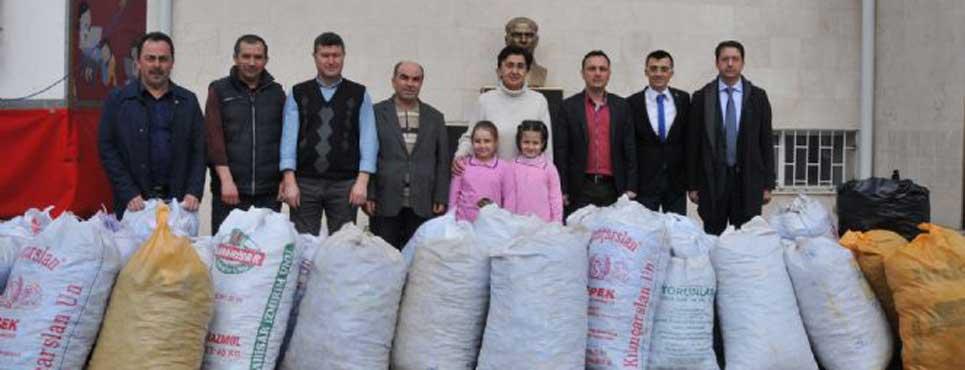 Hoca Ahmet Yesevi İlköğretim Okulundan rekor bağış