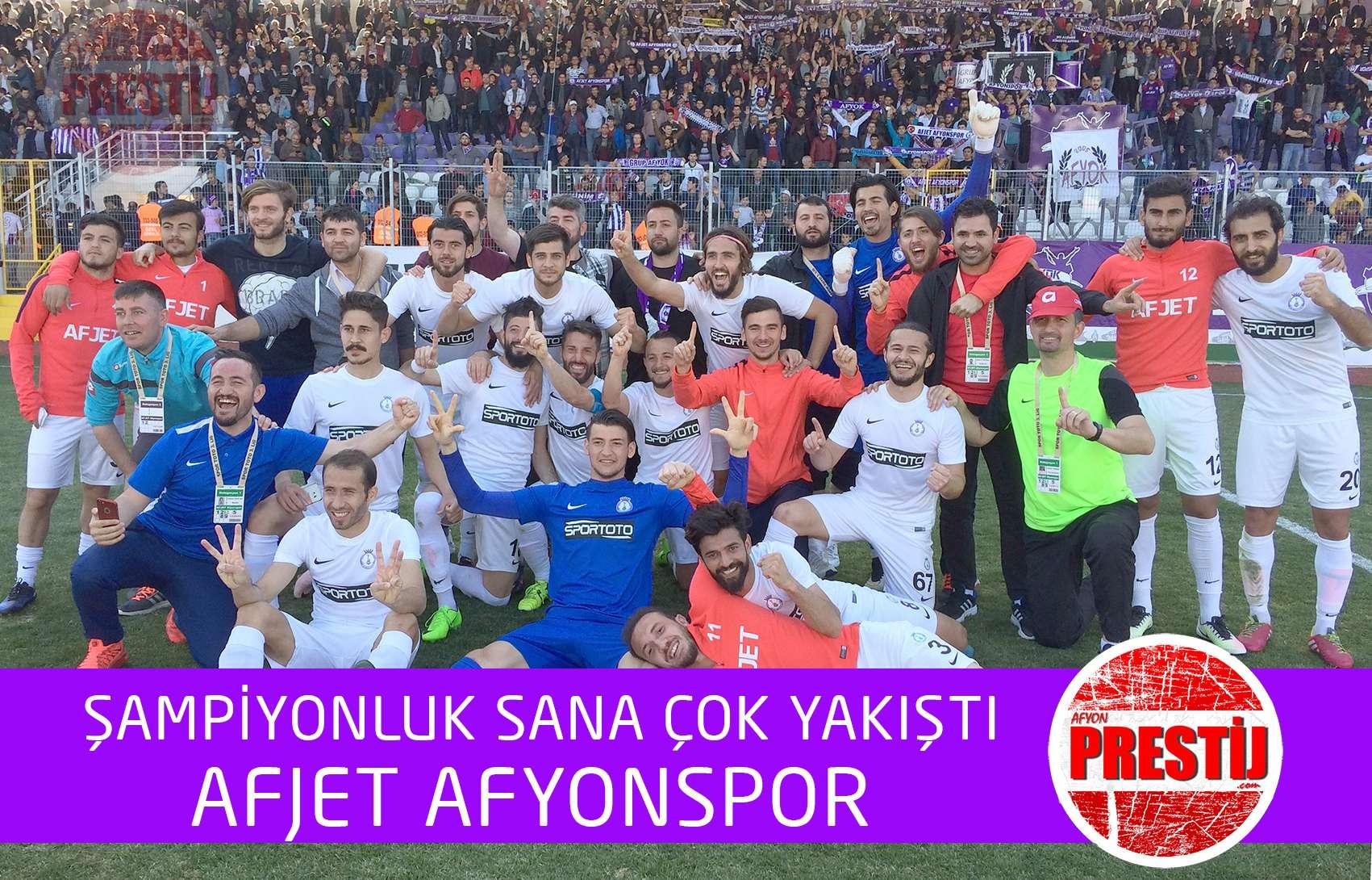 AFJET AFYONSPOR ŞAMPİYON