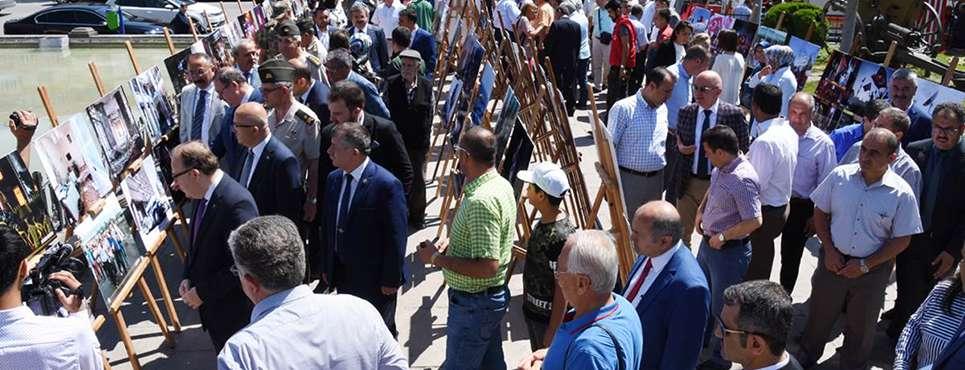 15 Temmuz Şehitlerini Anma, Demokrasi ve Milli Birlik Günü sergisi açıldı