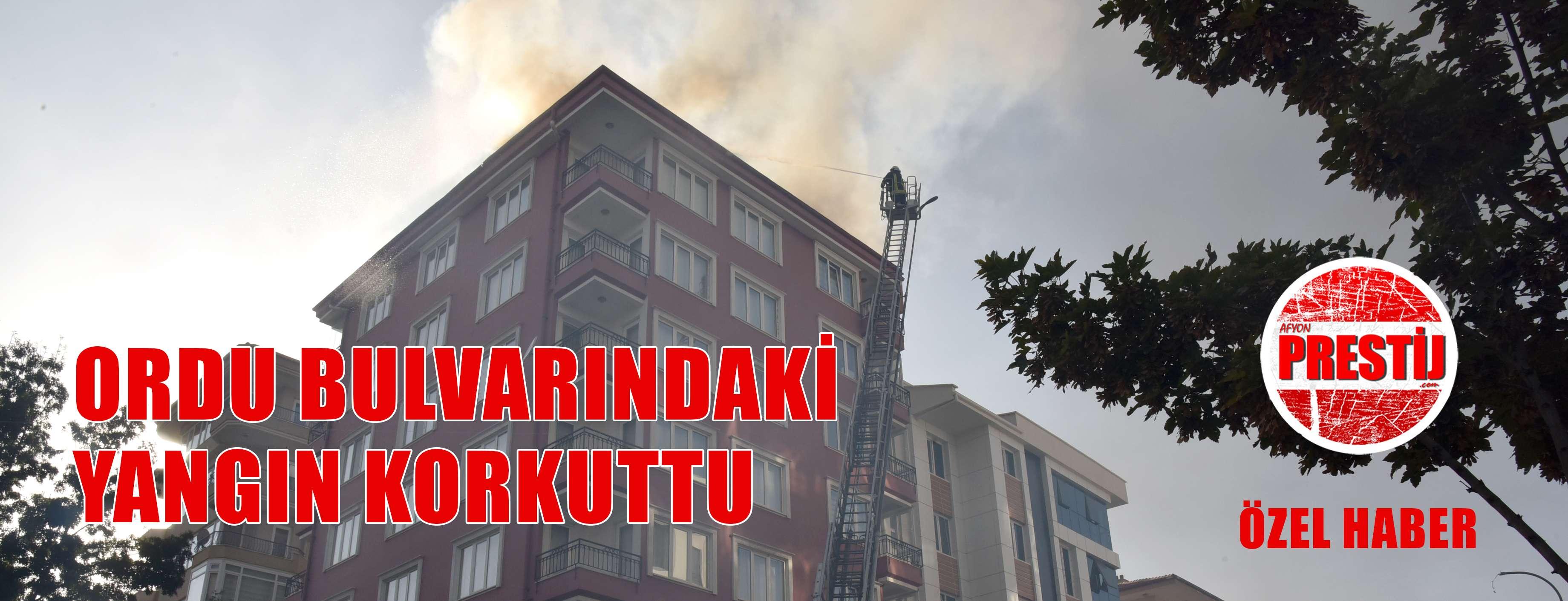 Afyon'da yangın panik yarattı