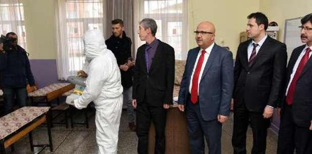 147 okul dezenfekte edildi