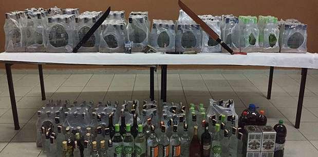 Sinanpaşa'da kaçak içki operasyonu