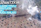Afrin'deki teröristlerin tankla vurulma anları