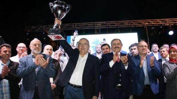 Afyon Belediyespor şampiyonluğu kutladı