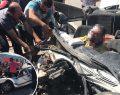 Arıza yapan kamyona çarpan otomobildeki 2 kişi yaralandı