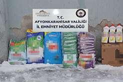 Afyon'da sahte bakım ürünleri ele geçirildi