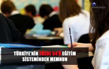 TÜRKİYE'NİN YÜZDE 54'Ü EĞİTİM SİSTEMİNDEN MEMNUN