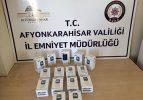 Afyon'da kaçak cep telefonları ele geçirildi