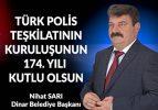 Belediye Başkanı Nihat Sarı'dan Polis Haftası mesajı