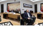 BAŞKAN ZEYBEK'E TEBRİK ZİYARETLERİ DEVAM EDİYOR