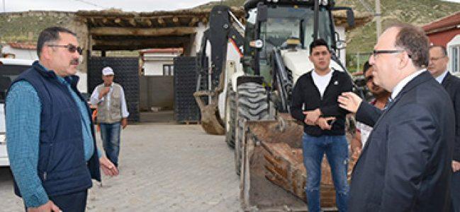 Vali Mustafa Tutulmaz Gübre atıklarını yerinde inceledi