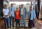 Gururumuz Münevvere Yılmaz Vali Tutulmaz'ı ziyaret etti