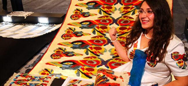 Afyonlu halı tasarımcısı Türkiye 3'üncüsü oldu
