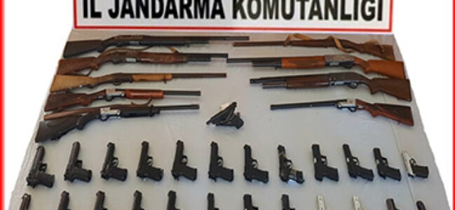 Jandarma düğünlerde silah atanların silahlarını topladı