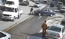 Afyon Mobese kaza görüntüleri