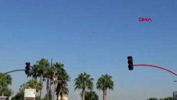 Adana da dronelu trafik uygulaması
