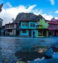 Afyonkarahisar da kartpostallık yağmur manzaraları