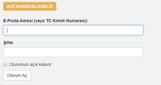 Anadolu Üniversitesi AÖF Vize Sınav Yerleri Sorgulama| AÖF Öğrenci Bilgi Sistemi !