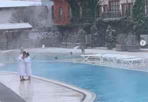 Eksi 14 derecede havuz keyfi