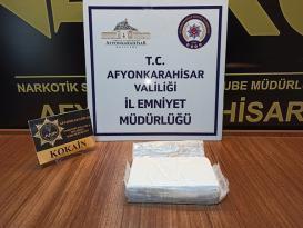 Afyon'da 1 kilo 50 gram Kokain ele geçirildi