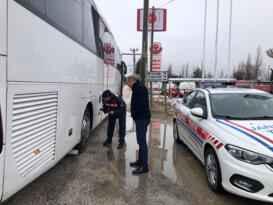Şehirlerarası otobüsler kontolde