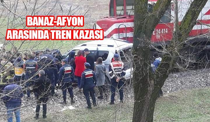 Afyon'da tren kazası