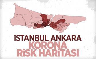 İstanbul ve Ankara'nın korona risk haritası