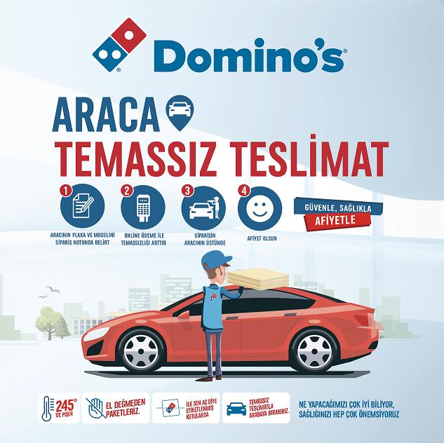 Domino's lezzetleri artık arabanıza kadar geliyor