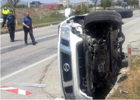 İl Özel İdaresi Yol Müdürü trafik kazası yaptı