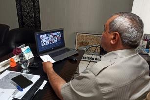 Başkan Şahin, Telekonferans Yöntemiyle Ege Bölgesi Belediye Başkanları Toplantısına Katıldı