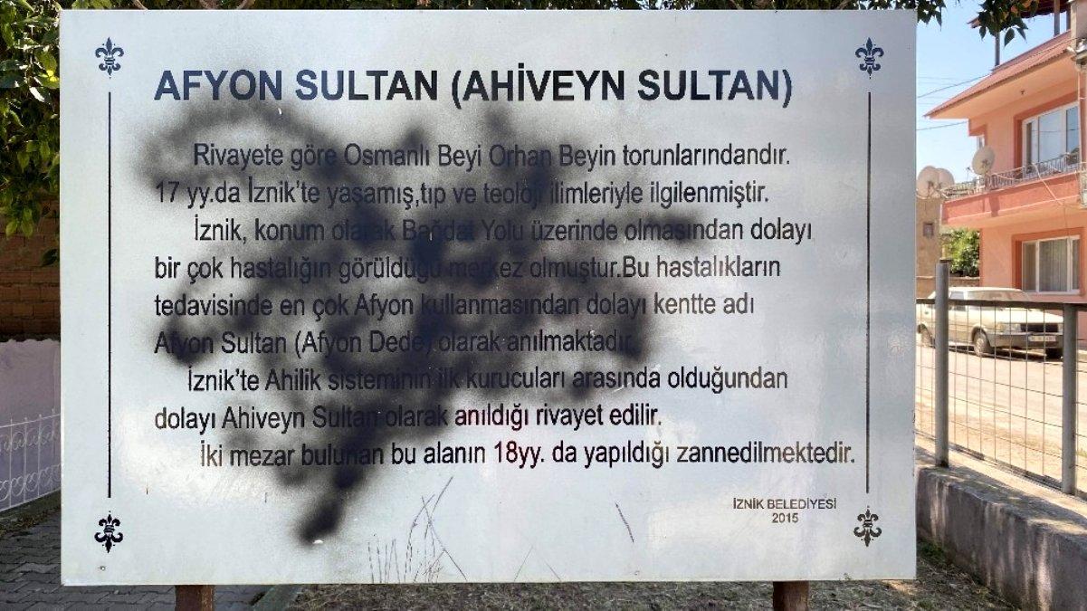 Bursa da bin 800 yıllık türbeye çirkin saldırı