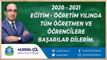 BAŞKAN MUSTAFA ÇÖL 2020/2021 EĞİTİM ÖĞRETİM YILINI KUTLADI